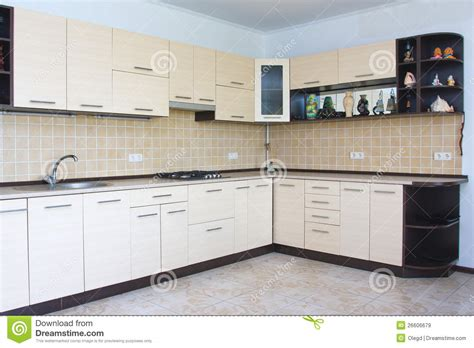 modern kitchen interior modern kitchen interior stock image image of indoors 26606679
