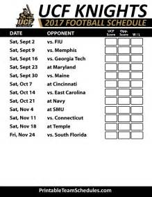 Printable UCF Football Schedule 2016