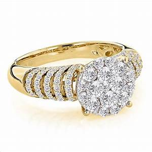 unique engagement rings ladies diamond ring 128ct 14k gold With ladies wedding rings gold