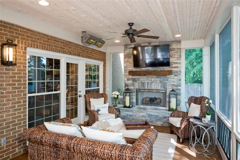 screened porch with fireplace with a screened porch like this you would be just
