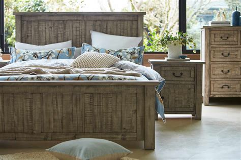 gallery bed frame rustic grey wash bedroom furniture