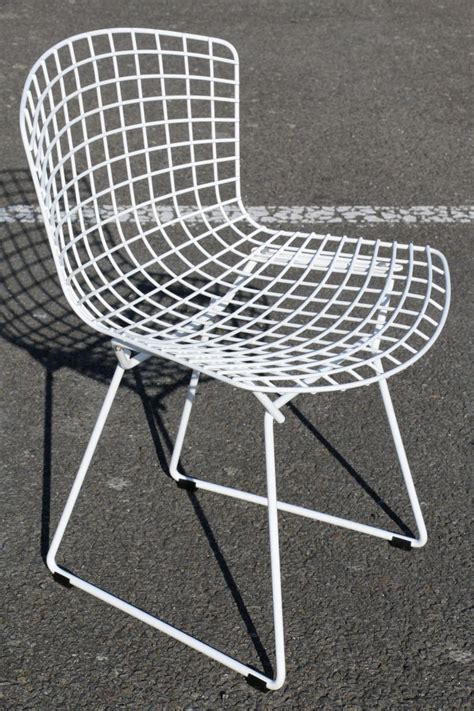 chaise bertoia blanche chaise wire blanche bertoia edition knoll d 39 occasion