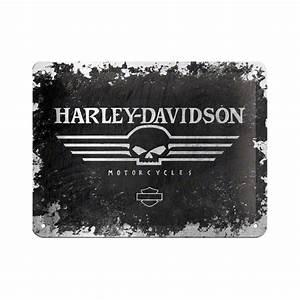 Plaque De Metal : plaque en m tal 15 x 20 cm harley davidson t te de mort deco envie com ~ Teatrodelosmanantiales.com Idées de Décoration