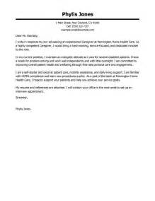 Leading Professional Caregiver Cover Letter Examples