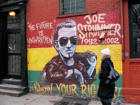 joe strummer mural address joe strummer forgotten new york