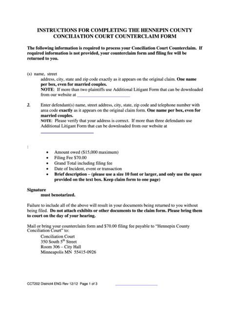 minnesota district court forms  templates