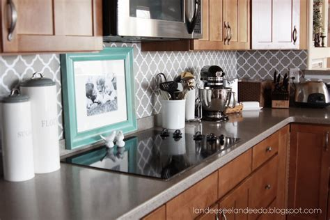 painting kitchen backsplash ideas how to paint a stripe landeelu com