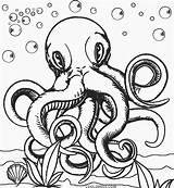 Octopus Coloring Printable Realistic Cool2bkids Adult Animal Template Colorings Getcolorings Colors Mandala Queer Drawing Getdrawings sketch template