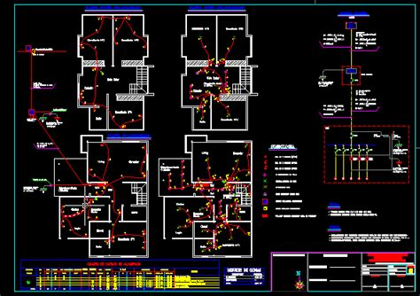 house electrical project dwg full project  autocad