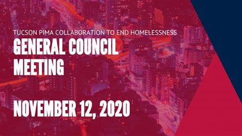 TPCH General Council Meets Thursday, November 12, 2020 ...