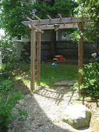 building an arbor Build a Wooden Garden Arbor