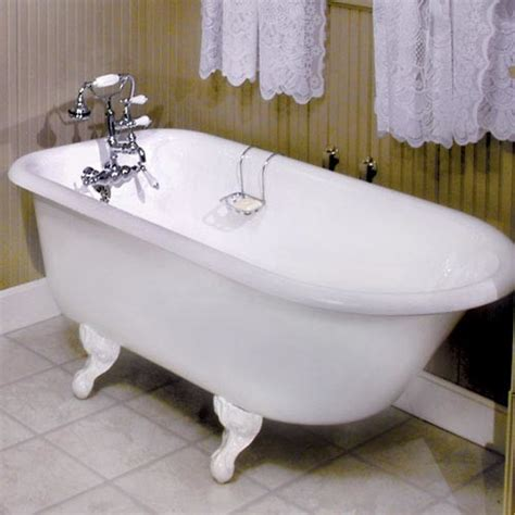 bootz cast iron bathtub 55 inch cast iron roll top claw foot tub