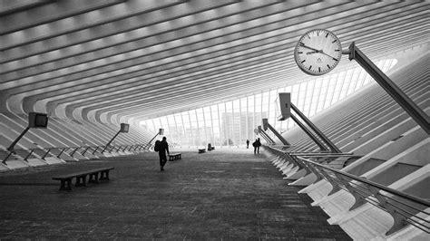 Monochrome Hallway Architecture, Hd World, 4k Wallpapers