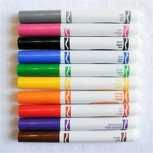 Crayola Broad Line Markers: What's Inside the Box   Jenny ...