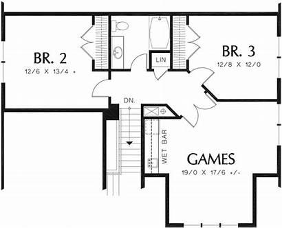 Square Feet Plan Houseplans Narrow Bathrooms 2559