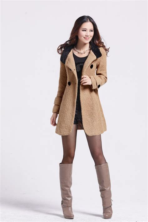 Women Wool Coat Winter Outerwear hooded Jacket Ladies Thick Clothes Long Overcoat Outdoor parka ...