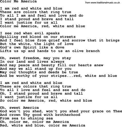 seen it in color lyrics dolly parton song color me america lyrics