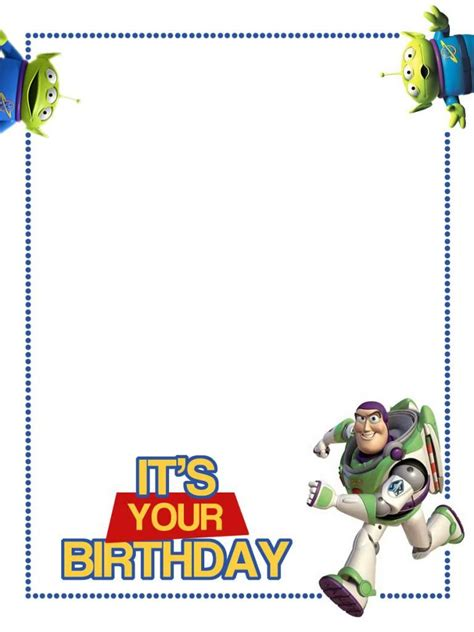 Toy Storybday Card Templates by Toy Story Buzz Pinterest 201 Clairs Graphiques Et