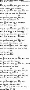 Country Southern And Bluegrass Gospel Song Mary Did You