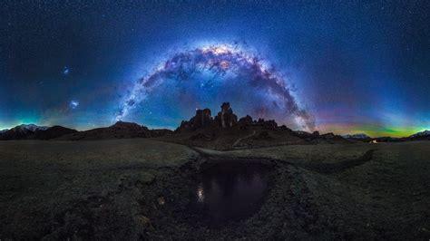 New Zealand Castle Hill Atmosphere Milky Way Night Sky