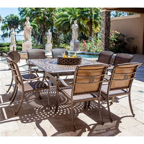 10pc outdoor all inclusive pit dining set wicker