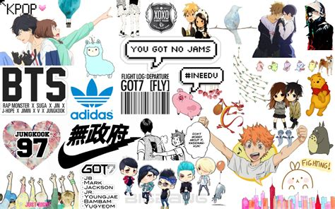 Kpop Anime Wallpaper - anime related things mix wallpaper made this for