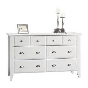 shop sauder shoal creek soft white 6 drawer dresser at lowes