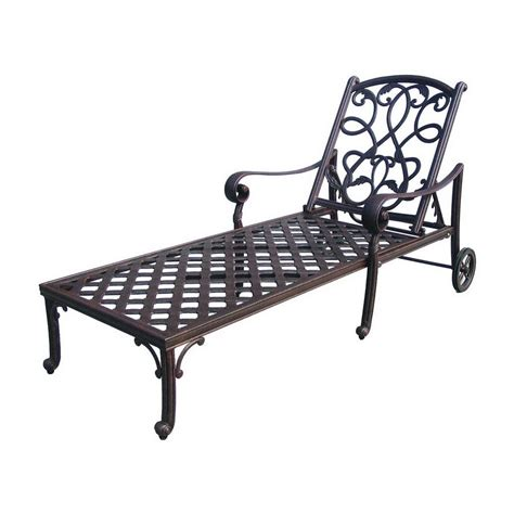 shop darlee santa cast aluminum patio chaise lounge