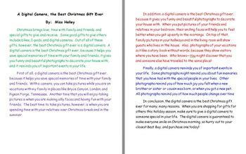 christmas gift  persuasive essay