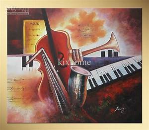 2018 Abstract Oil Painting Musical Instrument,Bowang Happy ...
