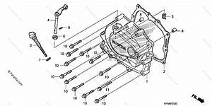Honda Motorcycle 2008 Oem Parts Diagram For Right Crankcase Cover