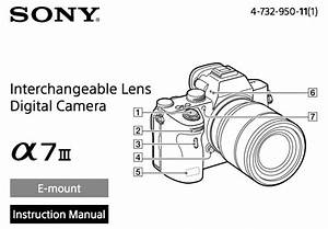 Sony A7iii Manual Now Available