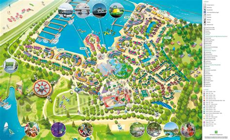 plattegrond center parcs port zelande