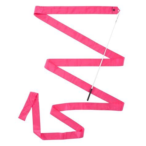 cinta de gimnasia ritmica gr de  metros rosa domyos