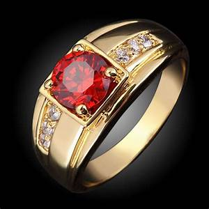2017 suohuan super male ruby jewelry garnet men ring cz With mens garnet wedding ring