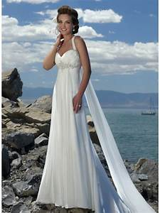 watteau halter beaded chiffon sheath beach destination With destination beach wedding dresses