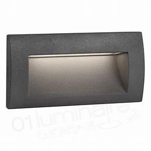 Encastrable de mur Sedna 2 gris LED 3000K 93 Lm Faro