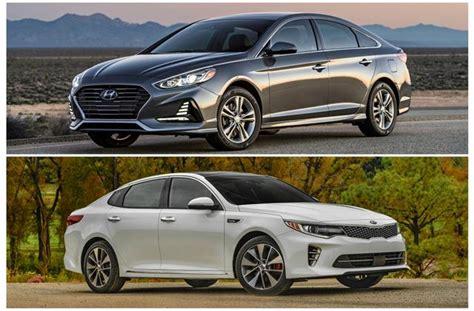 Kia Sonata by 2018 Hyundai Sonata Vs 2018 Kia Optima To U