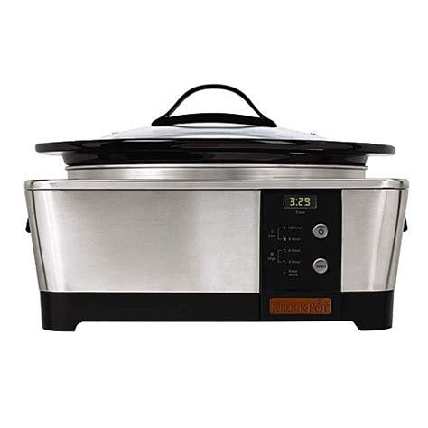 crock pot 6 quart crock pot sccptp600 s 6 quart stainless steel oval cooker ebay