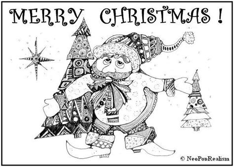 google gr art christmas cards greeting card quot merry quot gr 6 8 adapt 9 12 3 5 neopoprealism ink pen pattern drawing
