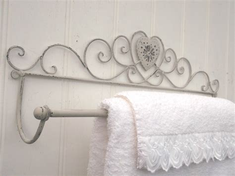 shabby chic towel rails large shabby chic heart french vintage grey wall mounted towel rail amazing grace interiors