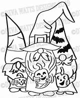 Svg Halloween Gnome Witch Layered Coloring Crew Bats Gnomies Printable Gnomes Candy Fall Stencil Stencils Cut Corn sketch template