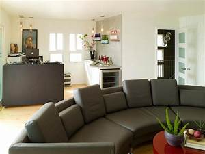 Stylish oversized sofas living room and dining room for Large sectional sofa in small living room