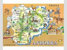 Maps of Andorra Detailed map of Andorra in English