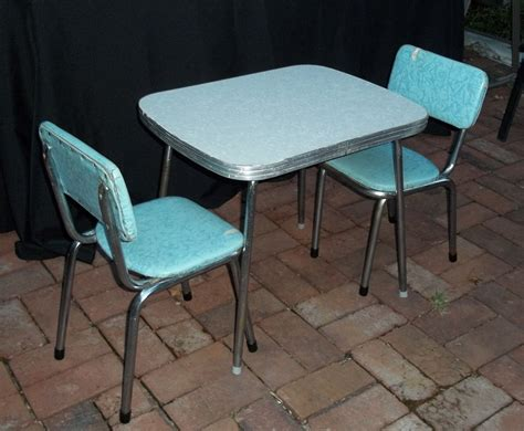 chrome table and chairs vintage mid century chrome and vinyl play table and chair set