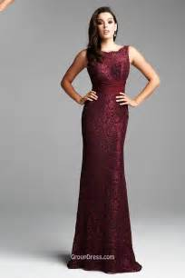 burgundy lace bridesmaid dresses burgundy sleeveless sheath lace prom dress v back groupdress