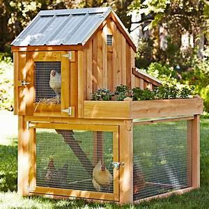 Cedar Chicken Coop And Run With Garden Planter