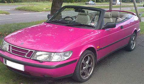 Pink Convertible Car For Sale by Saablog In Le Saab Pink Saab Convertible For Sale