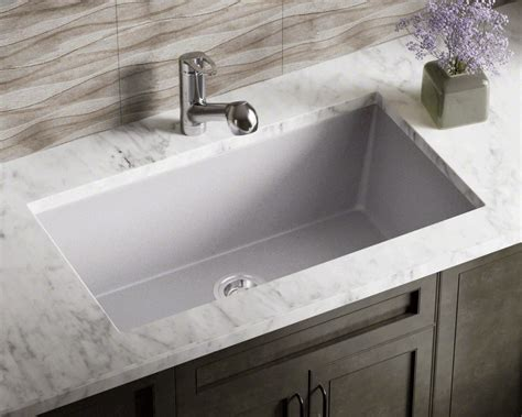 silver single bowl undermount trugranite sink