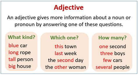adjectives possessive adjectives examples